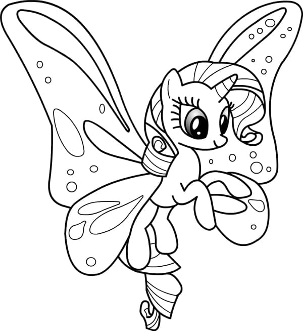 Раскраски пони с крыльями распечатать